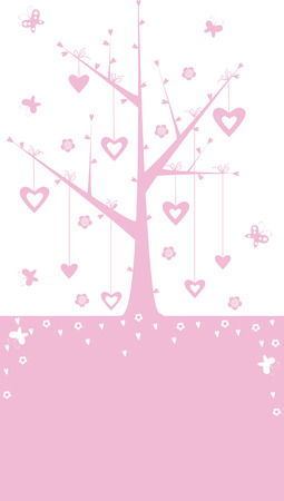 Pink valentine background with heart