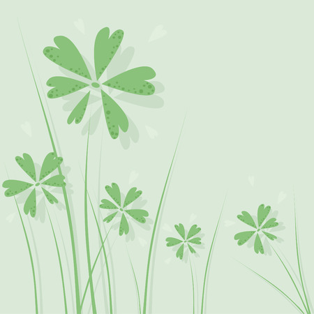 abstract green floral background Stock Vector - 4103190