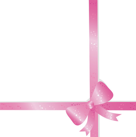 curlicue: Big pink holiday bow on white background