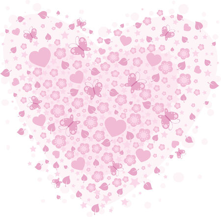 vector valentine background with hearts Illustration