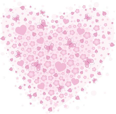 vector valentine background with hearts Иллюстрация