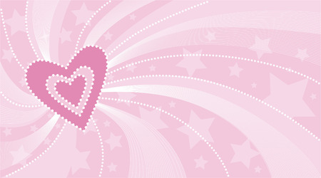 vector valentine background with hearts Vector