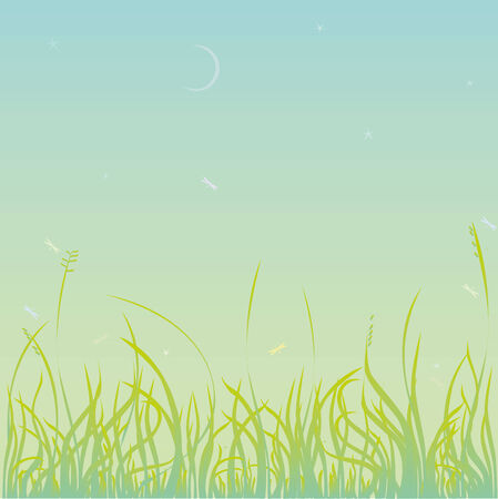 Abstract background with green grass Illustration