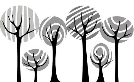 plats: Vector black trees Illustration