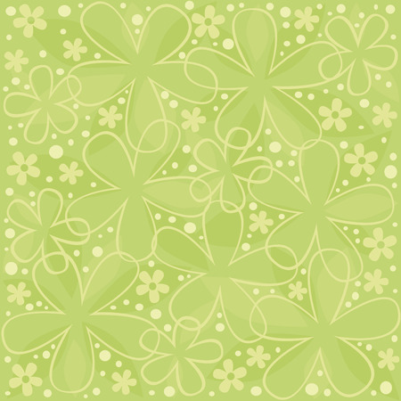 green abstract floral wallpaper Stock Vector - 4317419