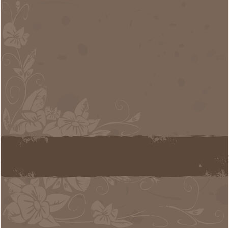 vector grunge background with flowers Vector