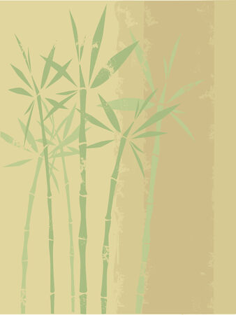 vector grunge background with bamboo Иллюстрация