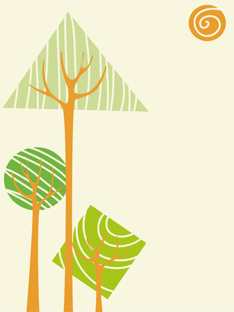 Vector trees Stock Vector - 4425081