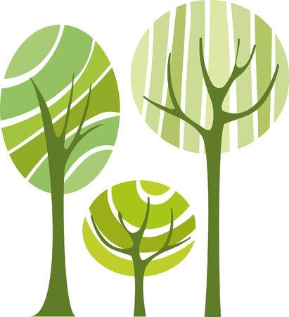 green tree, vector illustration Stock Vector - 4479475