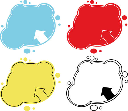 Four  bubbles in various colors Vector