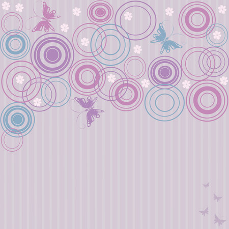 Abstract background with butterflies Stock Vector - 4711726