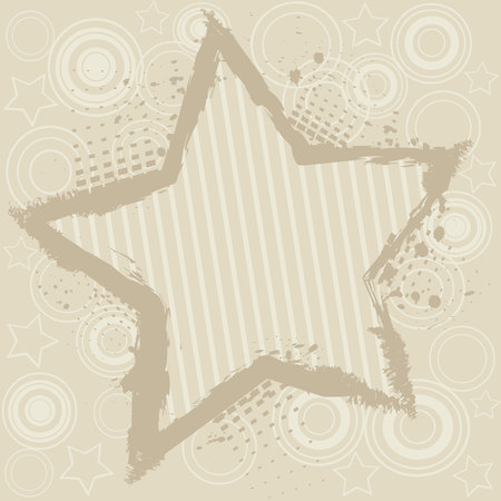 filth: Abstract background with star