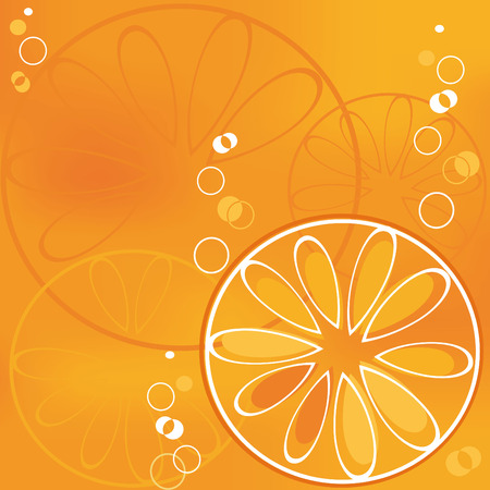 orange slice: Oranje segment in bubbly drank