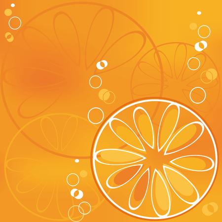 fiambres: rebanada de naranja en la burbujeante bebida