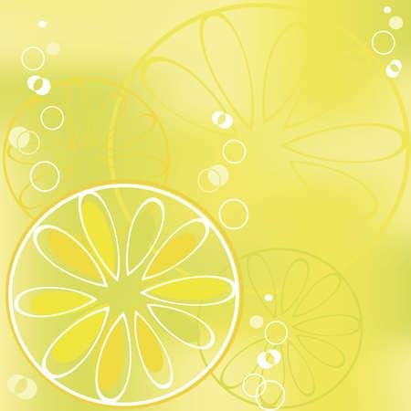 fiambres: rodaja de lim�n en la bebida burbujeante
