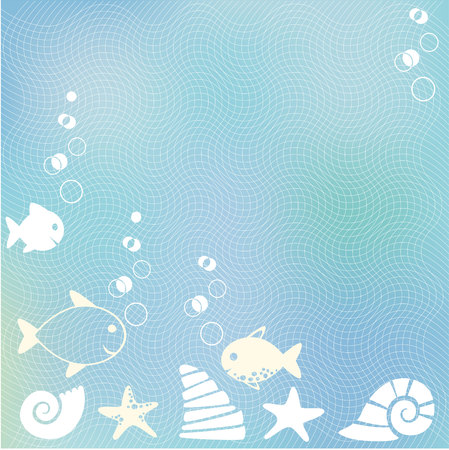 Sea blue background with bubbles