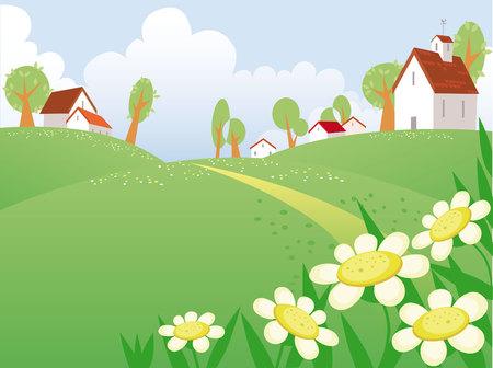 mountain meadow: D�a de verano, el paisaje con el espacio libre para su texto