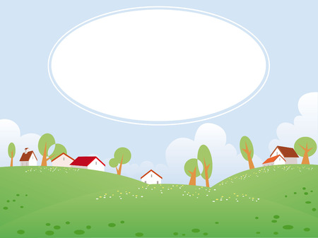 Summer day landscape with free space for your text Stock Vector - 4918192