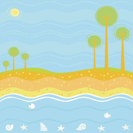 Sea background Stock Vector - 5106969