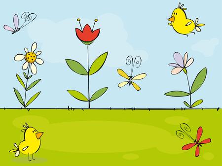 beautiful garden: Funny summer  background