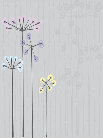 Monochrome flowers background Vector
