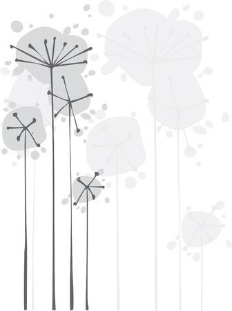 Monochrome flowers background Stock Vector - 5238145