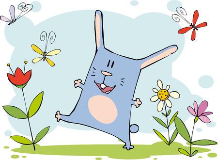 Забавный кролик Иллюстрация