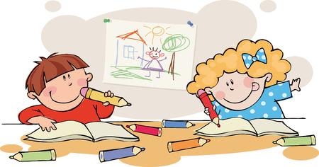 Funny kids Illustration