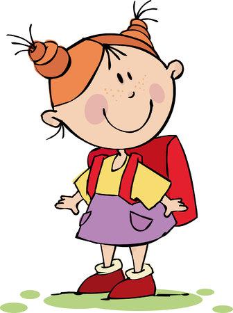Funny Girl, con un sacchetto di scuola