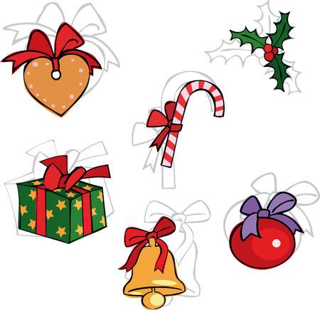 Vector Christmas set Illustration