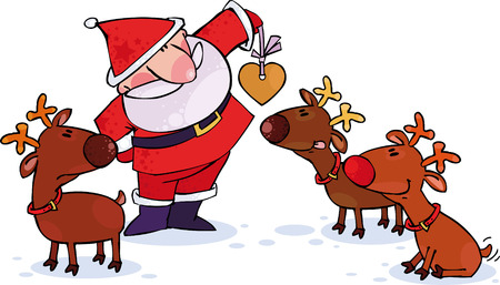 sentiment: Santa and Reindeers