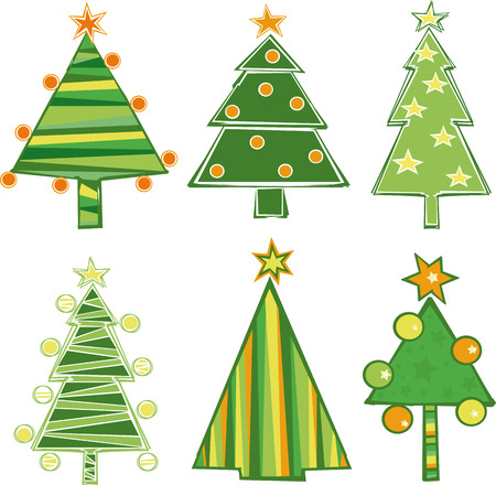 boll: vector set of christmas tree