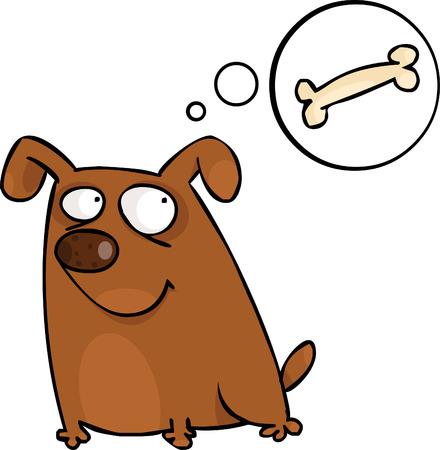 perro caricatura: Perrito con bocadillo