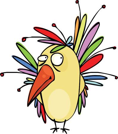 pajaro caricatura: Muy hermosa ave