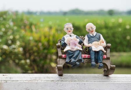 long live love Image of Grandma and Grandpa dolls