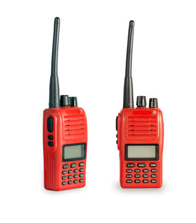 cb phone: A couple of portable radio transceiver.
