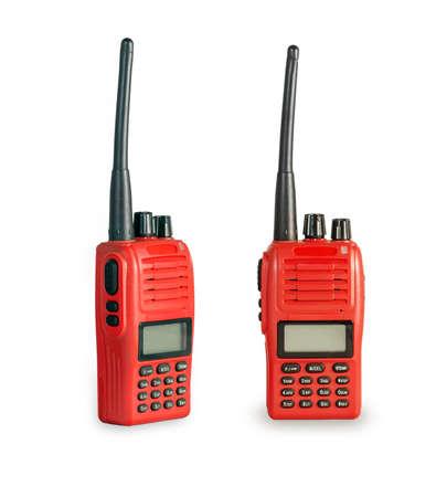 cb phone: A couple of portable radio transceiver.