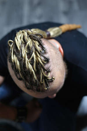 brutal male hairstyle dreadlocks from ja dred, material for weav