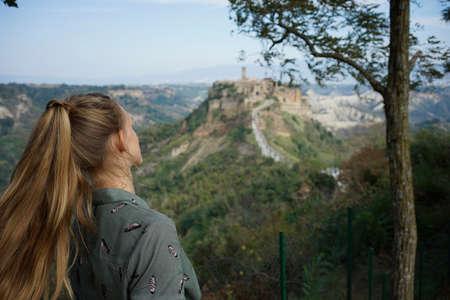 Civita di Bagnoregio city on a cliff in Italy, very beautiful Stock Photo