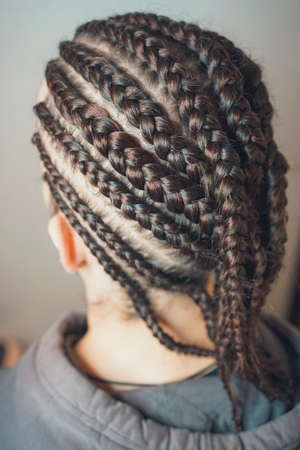 men cornrows braids for men, hair braided, close-up