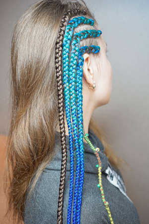 braids on the temple, shaved temple african, background