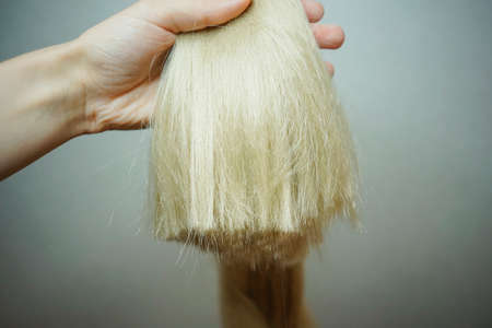 synthetic hair materials for weaving, braiding African braids zizi, Kanekalon Stock Photo