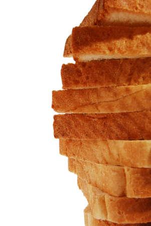 bread in slices closeup Stock Photo