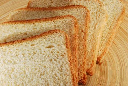Bread slices structure closeup