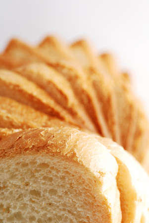 Bread slices tower perspective
