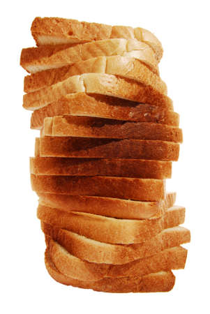 Toast bread spiral tower