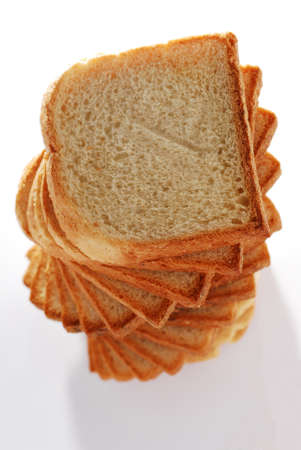 enriched: Toast bread tower texture Stock Photo