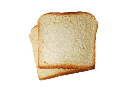 Toast bread slices isolated