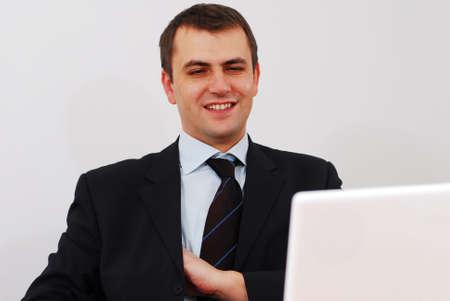 big deal: Successful businessman has just closed big deal Stock Photo