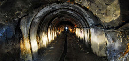 Light at the end of a tunnel of a mine